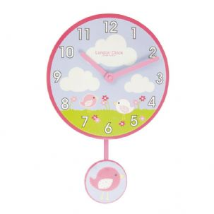 London Clock Company 02123 Childrens Birds Pendulum Wall Clock
